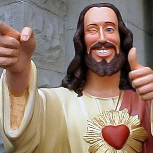 Big 9 funny jesus thumbs up