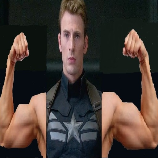 Big captain america biceps