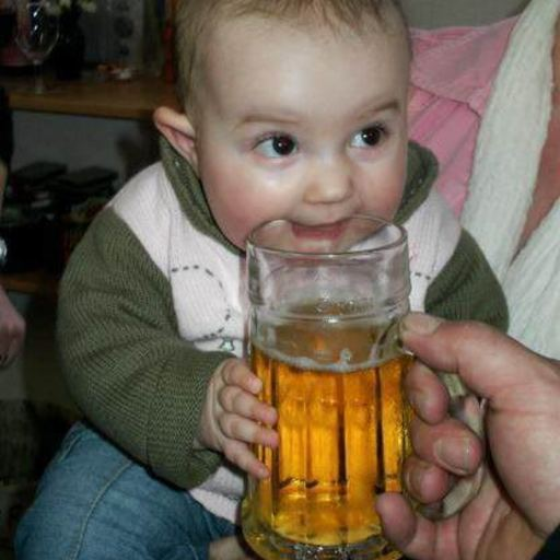 Big a.aaa baby loves to drinking beer